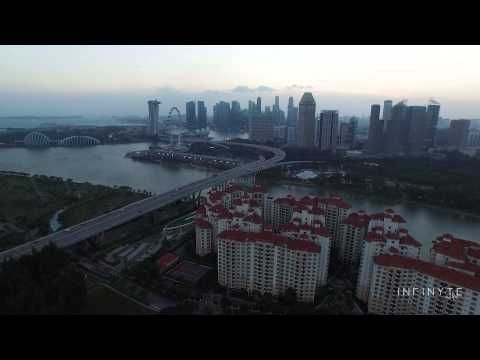 It was relatively clear skies... but super windy... the INSPIRE 1 held well and steady..... #AerialVideo #AerialPhoto #SingaporeAerialVideo