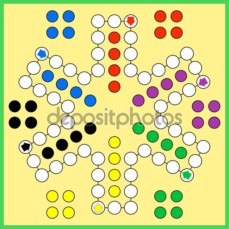 Gra planszowa Chińczyk — Ilustracja stockowa #92399122