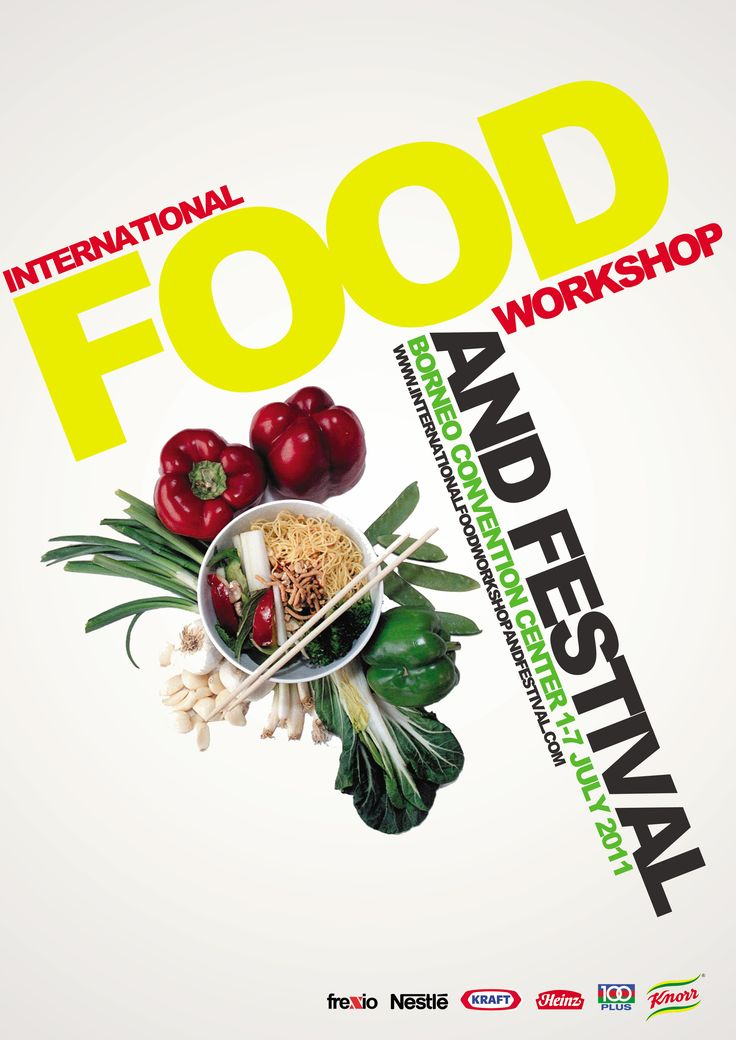 Concept of International Food Event Poster by Frendy Wijaya at ...