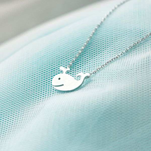 ★★Description★★  Soooooo cute~~  This is an adorable and unique whale pendant necklace.     Size: the pendant size is approx. 1.6 x 1 cm - 0.6 x 0.4 i