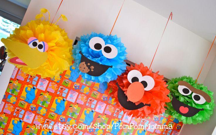 DIY Sesame Street Inspired Pom Materials Kit. $24.00, via Etsy.