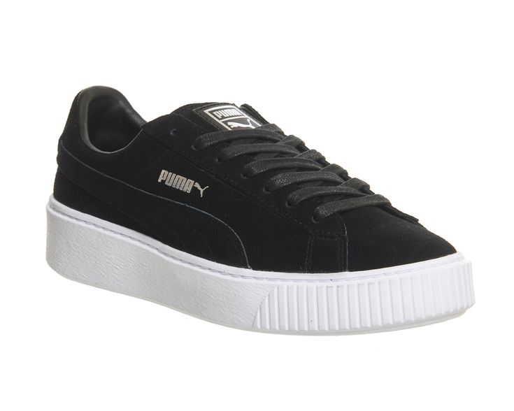 Buy Black White Puma Suede Platform from OFFICE.co.uk.