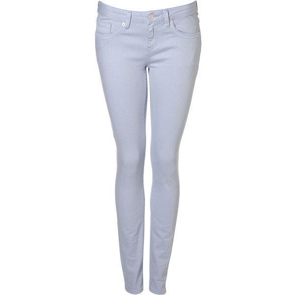 MOTO Bluebell Baxter Jean ($15) ❤ liked on Polyvore featuring jeans, pants, bottoms, topshop, bluebell, skinny leg jeans, relaxed fit jeans, skinny jeans, skinny fit jeans and super low rise skinny jeans