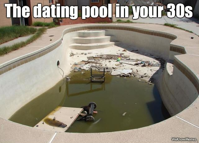 dating pool in your 30s meme Hello my motile macaques of love, and welcome to ask dr nerdlove, the dating advice column that's mankind's last, best hope for pizza this week, we're talking about the trials of finding love, when everything seems to be working against you.