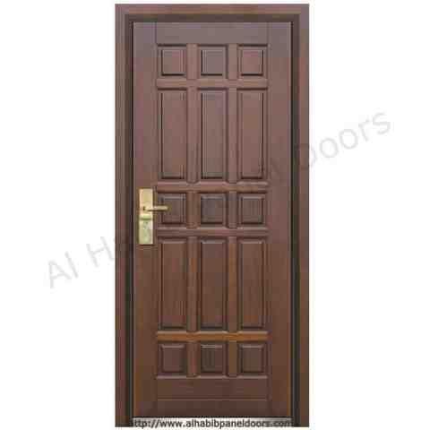 This is 3 panel solid door code is hpd101 product of for Wood doors in pakistan