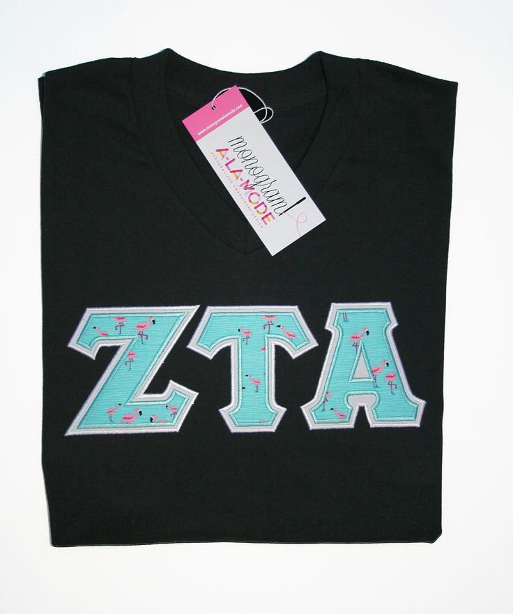 Zeta Tau Alpha Sorority Letter Shirt Monogramalamodeshop Sorority Sweatshirt, Sorority Letters