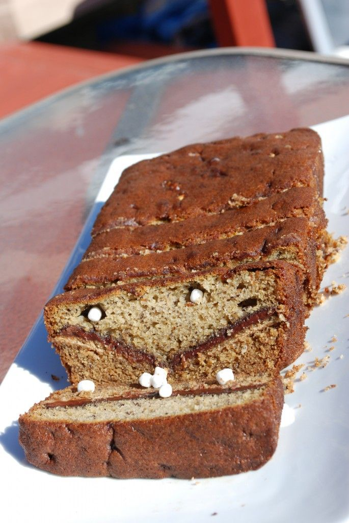 S'more Banana Bread - madefrompinterest.net - This Pin Rocks! #Recipe #Bread #Dessert