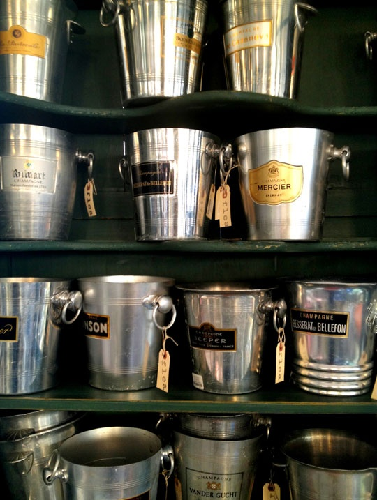 vintage champagne buckets. #fallfleamarket. via apartment therapy. #anthropologie #pintowin