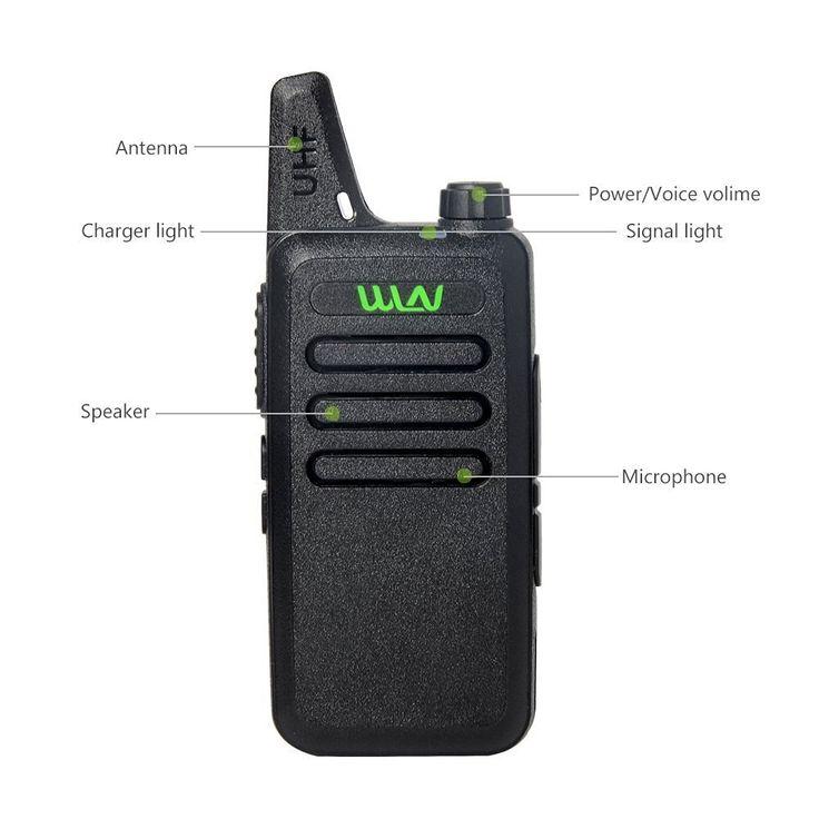 WLN KD-C1 Draagbare 2 way Radio in RUSLAND MAGAZIJN 5 W lange afstand UHF walkie talkie met GRATIS OORTELEFOON
