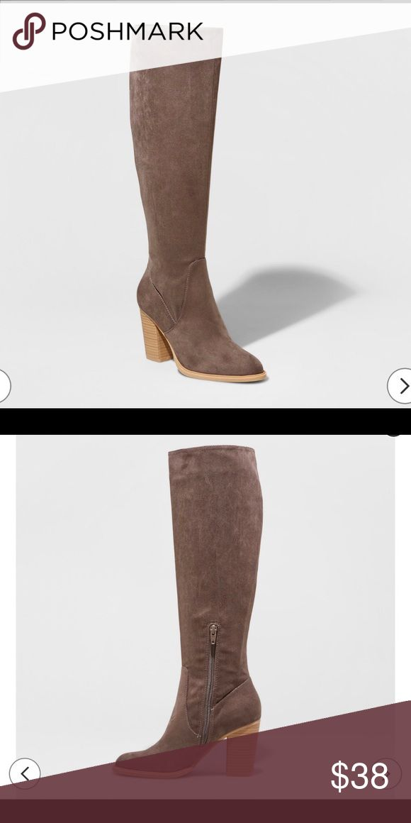 DV by Dolce Vita grey boots. Size 6 NWT, DV by Dolce Vita tall grey boots. Size 6. Beautiful color and versatile style. See photo for actual color. DV by Dolce Vita Shoes Heeled Boots