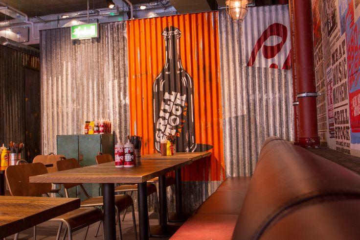 Grilstock - Restaurant mural #handpainted #illustrative on corrugated iron