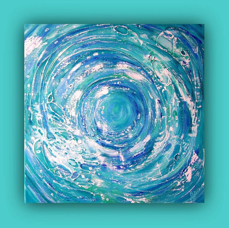 Abstract painting on canvas, acrylic and mixed media art, abstract wave picture, blue wave painting, hand painted wall art by BenDyerOriginalArt on Etsy https://www.etsy.com/listing/230811574/abstract-painting-on-canvas-acrylic-and