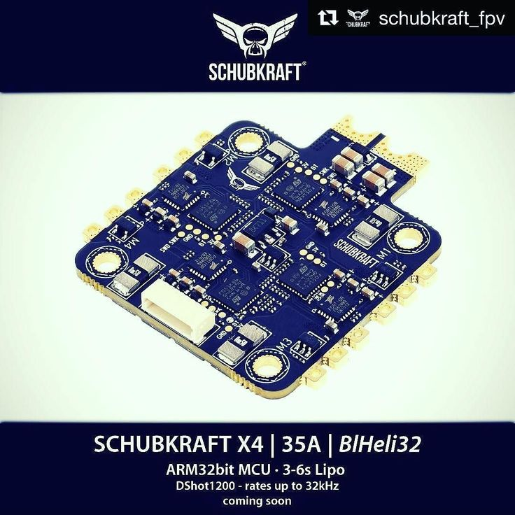 Soon available! SCHUBKRAFT X4 35A ESC   BlHeli32 Follow  Tag @flyingfolk  #fpv #fpvracing #lumenier #quadlife #quad #racing #dronechampionsleague #kiss #quaddiction #dronesque #airvuz #multirotor #multigp #blheli #esc #multishot #drone #schubkraft #flying