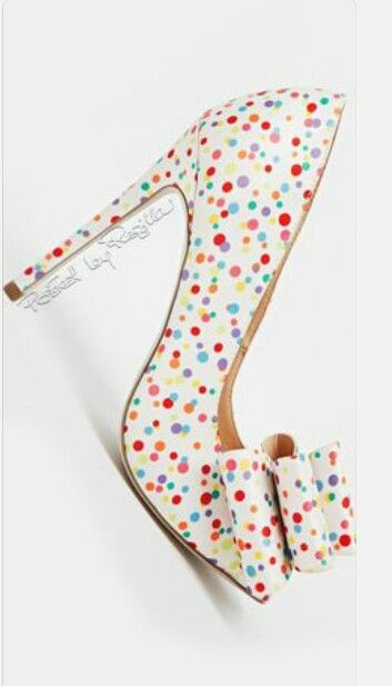 Colorful Polka Dot Bow Heels