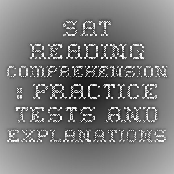 sat reading comprehension practice test pdf