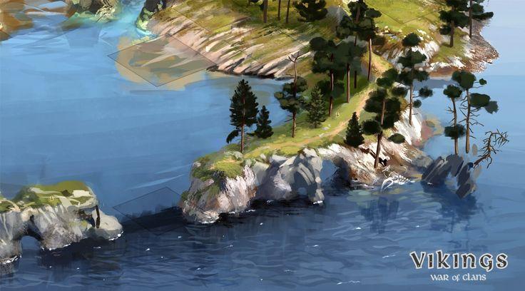 Создание карты города для игры Vikings: War of Clans — Компьютерная графика и…