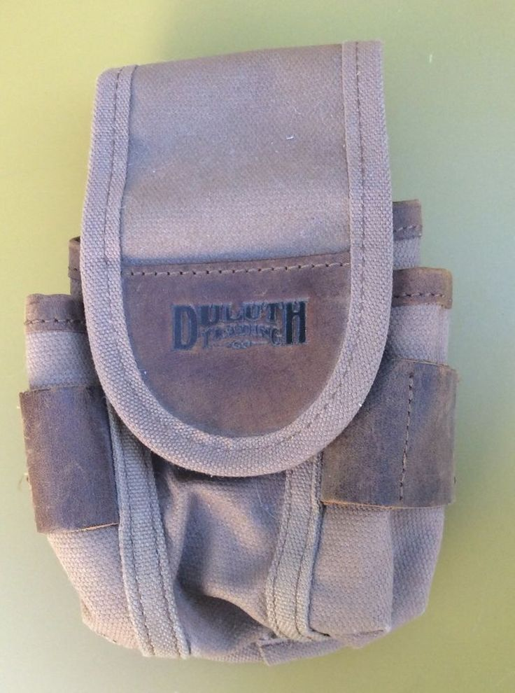 DULUTH TRADING canvas and leather small tool pouch with belt clip #DuluthTradingCo