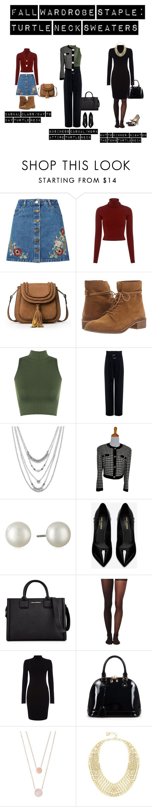 """""""FALL WARDROBE STAPLE: TURTLE NECK SWEATERS"""" by goldandkuhl ❤ liked on Polyvore featuring Miss Selfridge, A.L.C., Steve Madden, WearAll, IRO, Lucky Brand, ESCADA, Yves Saint Laurent, Karl Lagerfeld and Wolford"""