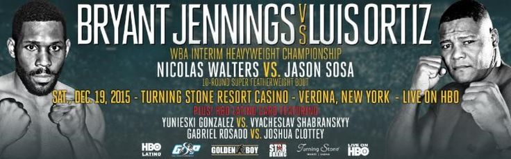 BRYANT JENNINGS VS. LUIS ORTIZ TICKETS ON SALE TODAY! FULL NIGHT OF BOXING ALSO FEATURES AN HBO LATINO BOXING CARD HEADLINED BY YUNIESKI GONZALEZ VS. VYACHESLAV SHABRANSKYY Tickets Start at $25! LO…