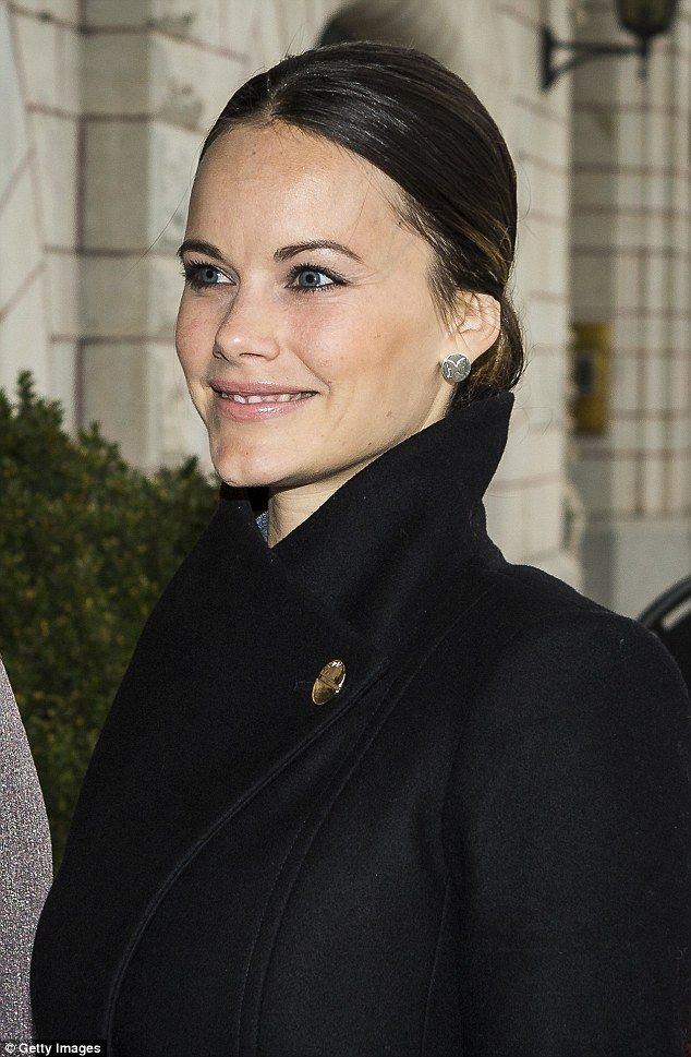Princess Sofia was all smiles as she arrived at the Hotel Diplomat wearing minimal make up...