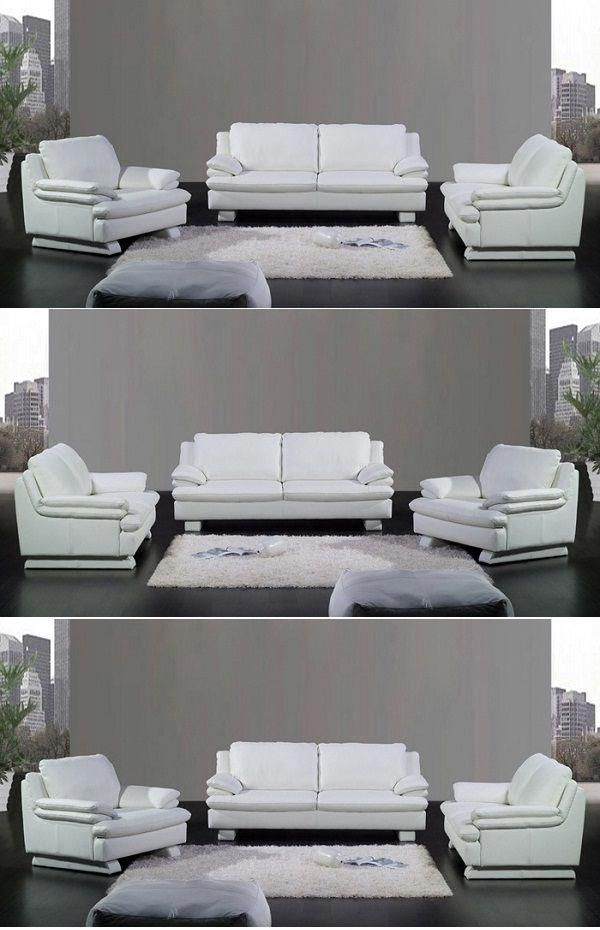 3 Piece White Leather Sofa Set Sofa Sofadesign Sofaideas Sectional Sectionalsofa Furniture Furni In 2020 White Leather Sofas Sofa Design White Leather Sofa Set