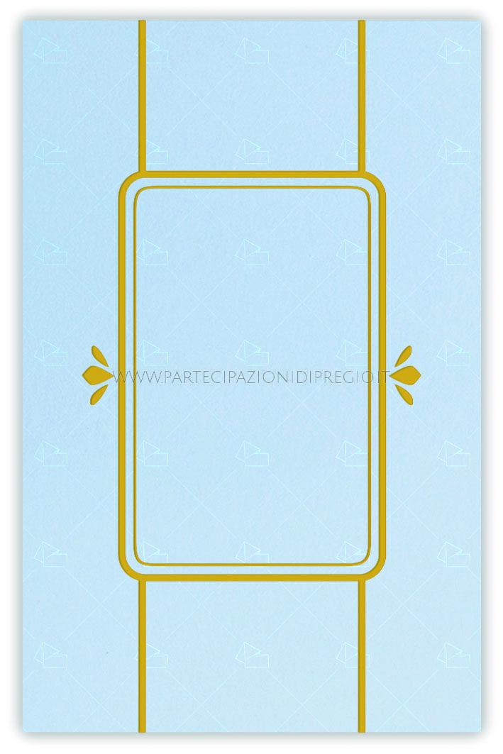 Letterpress wedding invitation - dimensione: 17 x 11 - forma: rettangolare - carta: Gmund Cotton - Gentlemen Blue - 300, 600, 900 gr. - linea: Cornici interne con linee e fregi - modello: alessia - lavorazione press: cornici e fregi