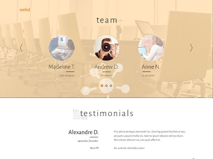 About Us Page , Creative Agency by Madalina Taina
