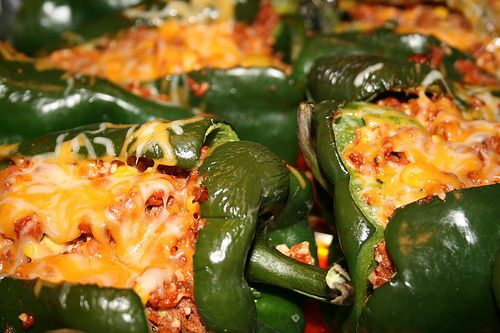 Stuffed Poblano Peppers | Recipes to try | Pinterest