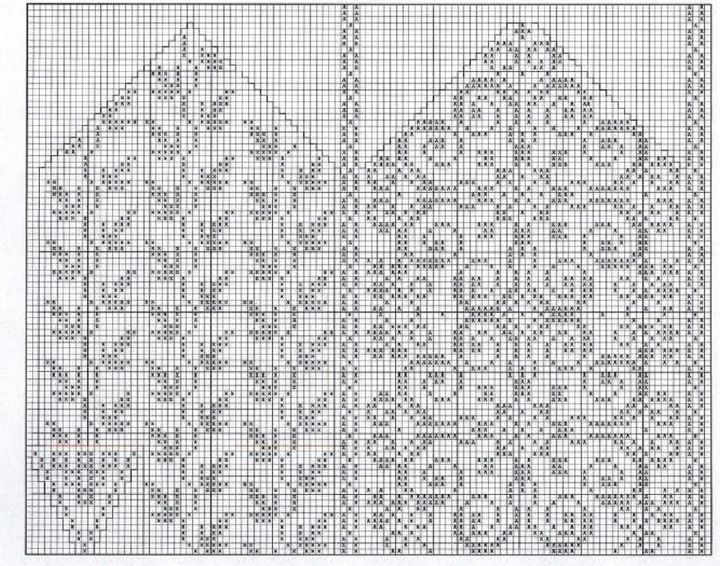 selbumønster oppskrift: a Norwegian chart for stranded color work mittens that could do double duty for counted cross stitch or other fancy embroidery, perhaps as a table runner.