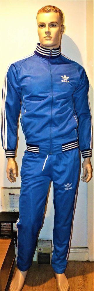 Mens Adidas Blue Nice Tracksuit