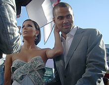 2008 Emmy Awards - Eva Longoria with then-husband, Tony Parker at the 2008 Emmy Awards.