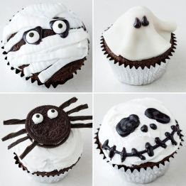 20 DIY black and white Halloween party food and DIY by Moma