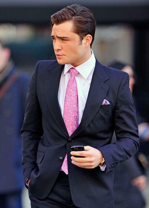 Wedding suit - purple - Chuck Bass