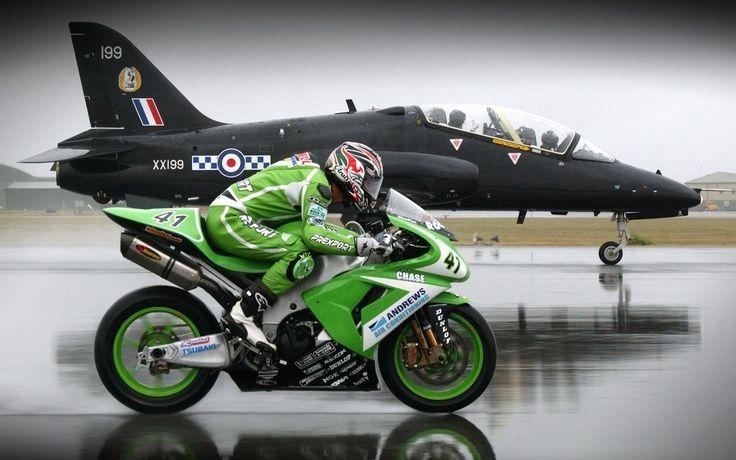#superbike vs #jet, Top, Sportbike. #amazing #racing. http://www.alliswall.com/
