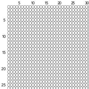 Square Stitch Graph Paper - Size 11 Seed Beads | Fusion ...