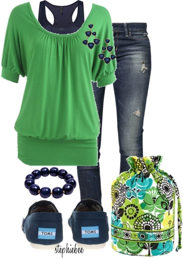 """Vera Bradley Ditty Bag"" by stephiebees on Polyvore"