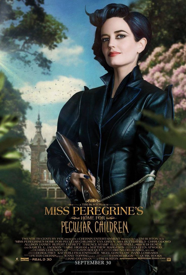 Character Posters for Tim Burtons MISS PEREGRINES HOME FOR PECULIAR CHILDREN Movie