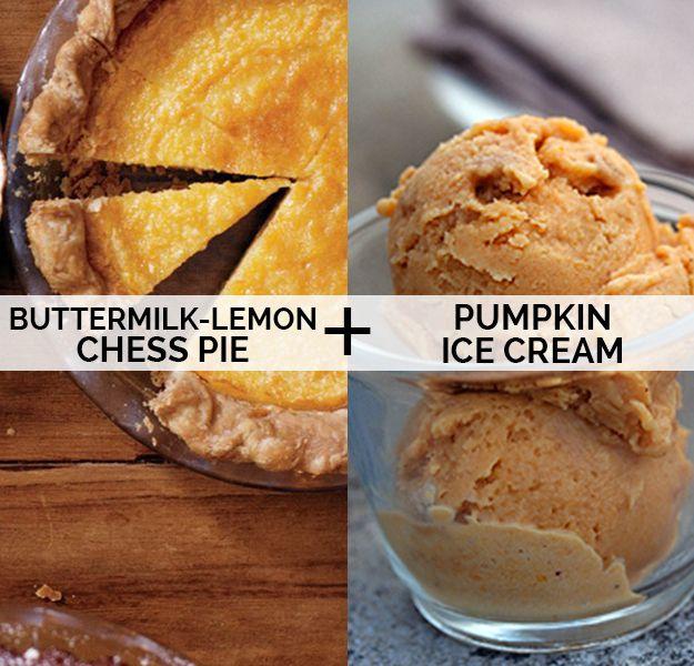 switcheroo: Buttermilk-Lemon Chess Pie + Pumpkin Ice Cream