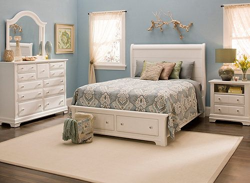 Queen Platform Bedroom Set w  Storage Bed   Bedroom Sets   Raymour and Flanigan  Furniture   Furniture ideas    Pinterest   Platform bedroom  Stor Cottage 4 pc  Queen Platform Bedroom Set w  Storage Bed   Bedroom  . Raymour And Flanigan Bedroom Sets. Home Design Ideas