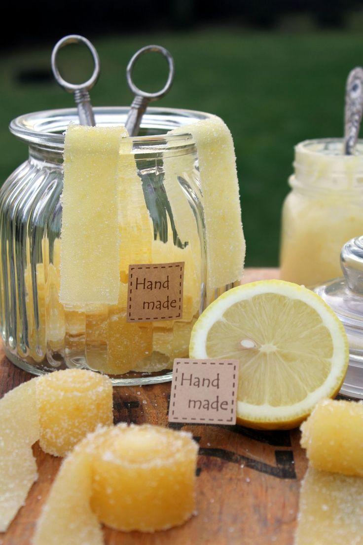 Hemgjorda Godisremmar med Citronsmak