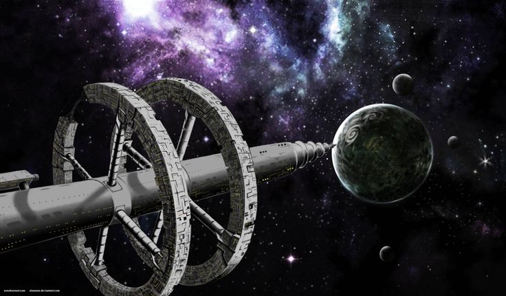"""Space ship """"The Renndla"""" from the Guardians of Evion world. I made this from a sketch, and the rest is photoshop."""