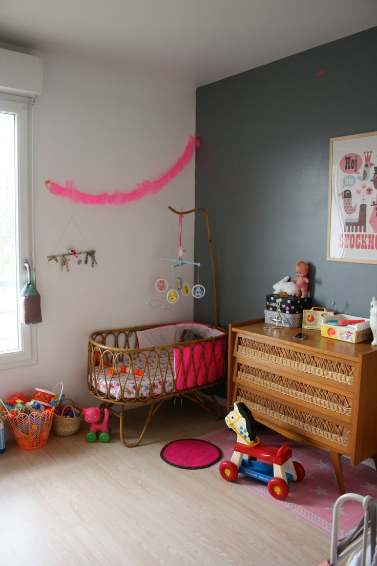 #nursery #baby room #kid room vintage cot