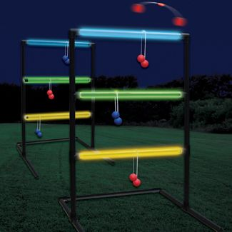 Soooo want this glow in the dark Ladder Toss game.   Could make your own with glow sticks i guess.