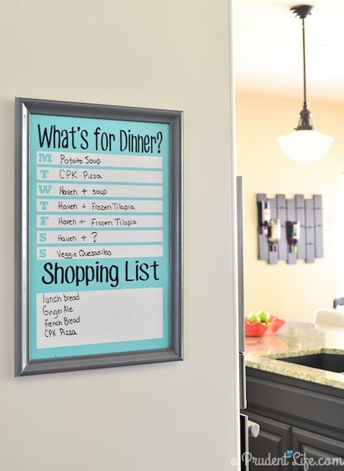 Make a Back to School Menu Board-could also print on cardstock and place inside a glass picture frame. The glass will serve as a dry erase board.
