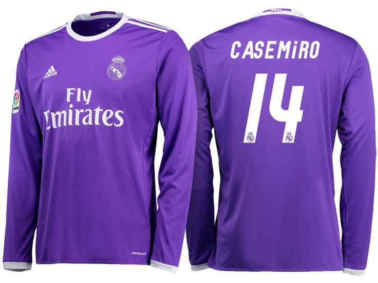 Real Madrid #14 Casemiro 2016-17 Road Long Jersey