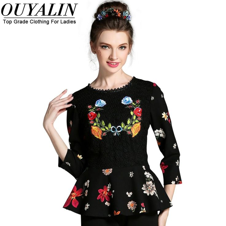 L- 5XL Fall 3/4 Sleeve Peplum Lace Patchwork Blouse Roupa Feminina Vintage Floral Print Like and share this pure awesomeness! http://www.artifashion.net/product/l-5xl-fall-34-sleeve-peplum-lace-patchwork-blouse-roupa-feminina-vintage-floral-print/ #shop #beauty #Woman's fashion #Products