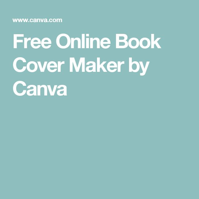 Free Online Book Cover Maker by Canva