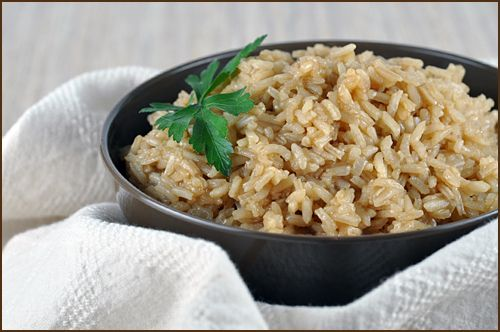 Rice Pilaf with Sauteed Onions and Beef Consomme