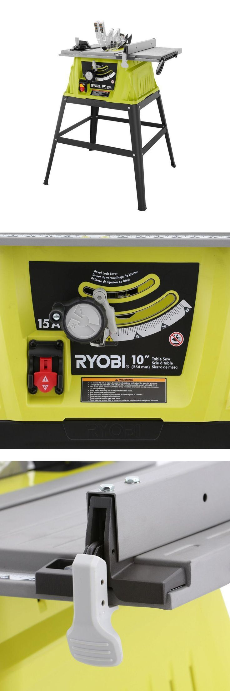 Table Saws 122835: Ryobi 15 Amp 10 In. Table Saw With Steel Stand Rts10g Brand New -> BUY IT NOW ONLY: $105 on eBay!