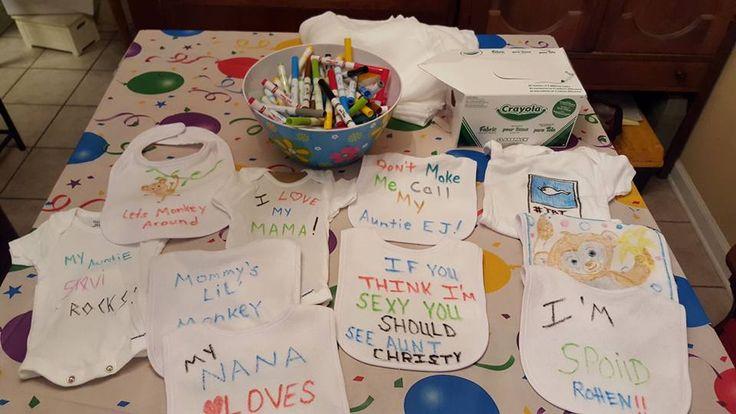 Best Baby Shower Idea EVER. Supplies Box of Crayola fabric ...